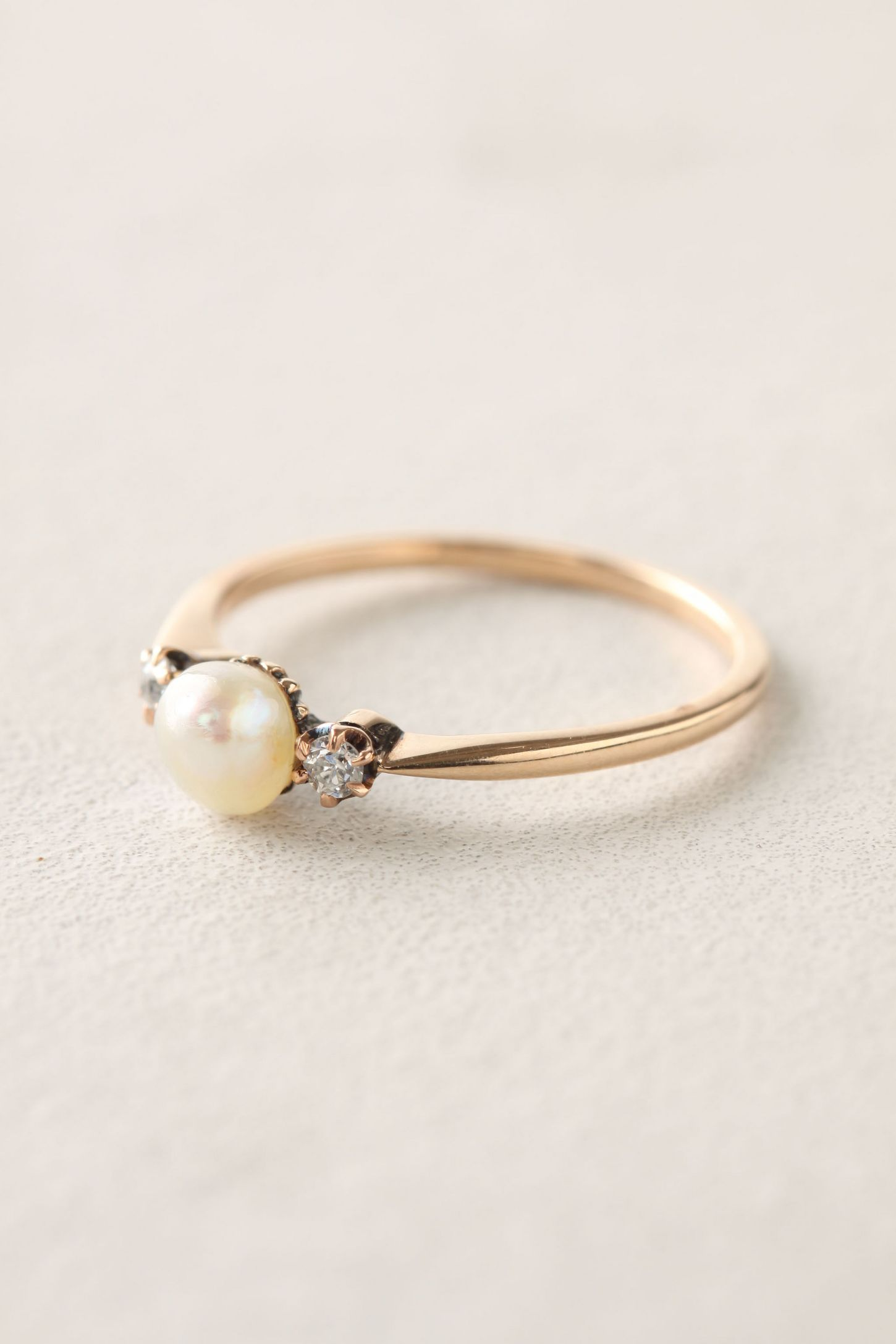 Lovely Wedding Rings with Pearl