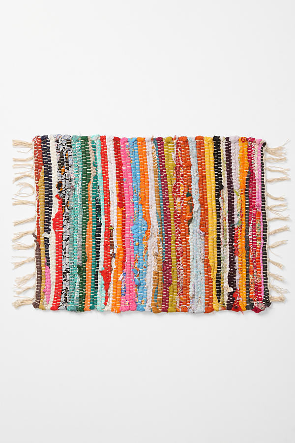 Slide View: 1: Rag Rug Placemat