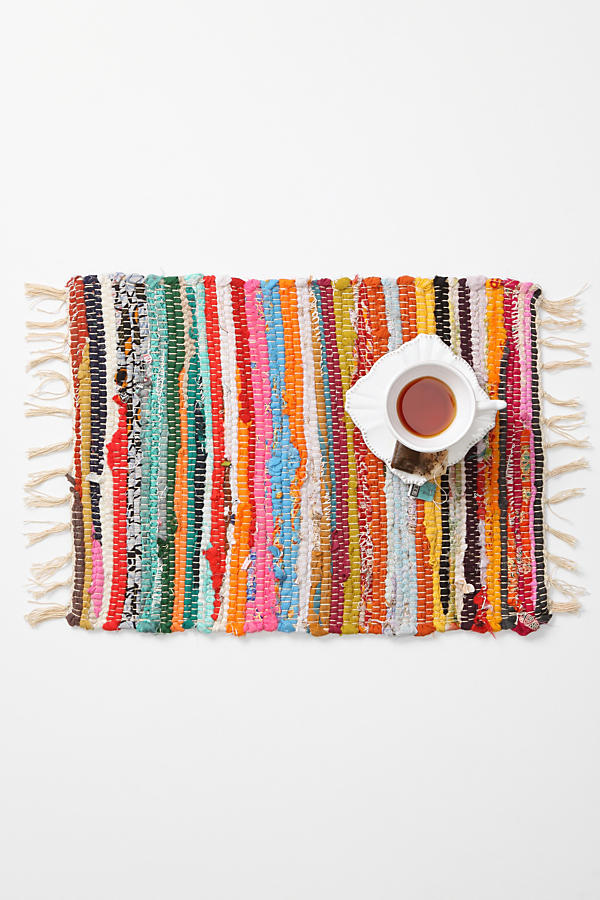Slide View: 2: Rag Rug Placemat