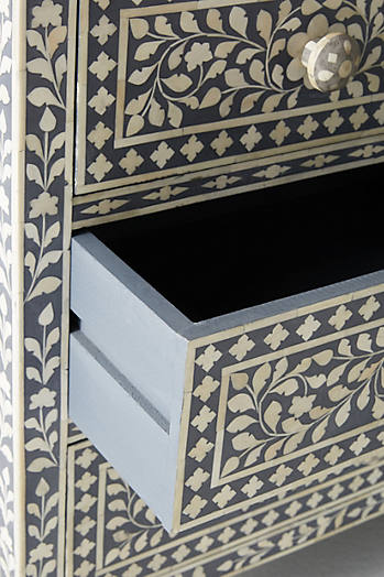 Slide View: 3: Bone Inlay Seven-Drawer Dresser