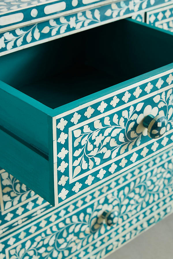 Slide View: 5: Bone Inlay Seven-Drawer Dresser
