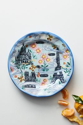 Francophile dinner plate anthropologie for Calligrapher canape plate anthropologie