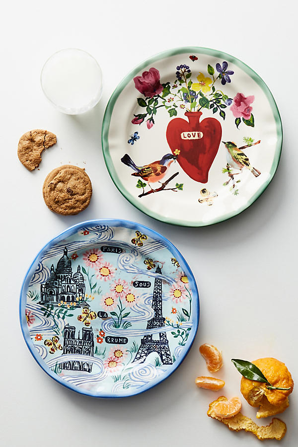 Slide View: 2: Francophile Dinner Plate