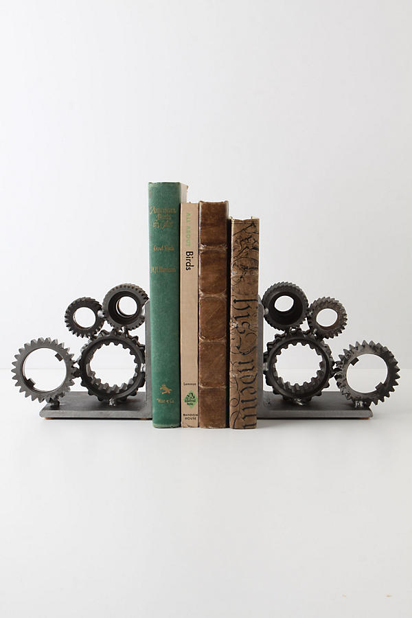 Slide View: 1: Industrial Gear Bookends