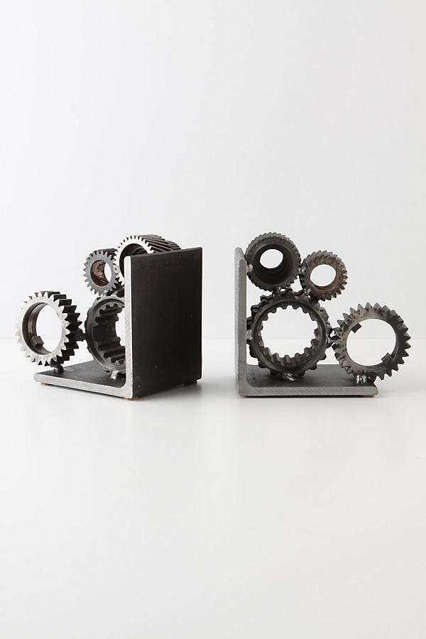 Slide View: 2: Industrial Gear Bookends