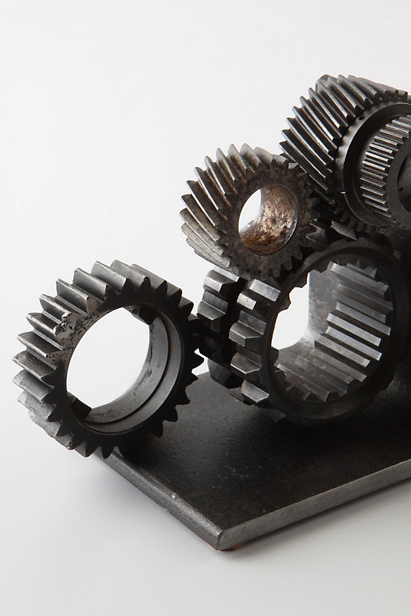 Slide View: 3: Industrial Gear Bookends