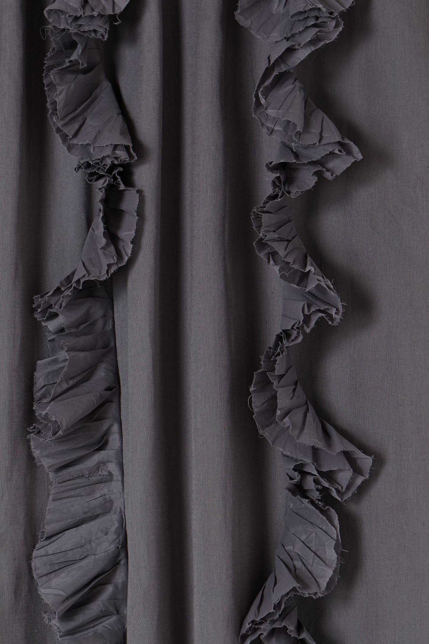 Black ruffle curtains - Slide View 2 Wandering Pleats Curtain