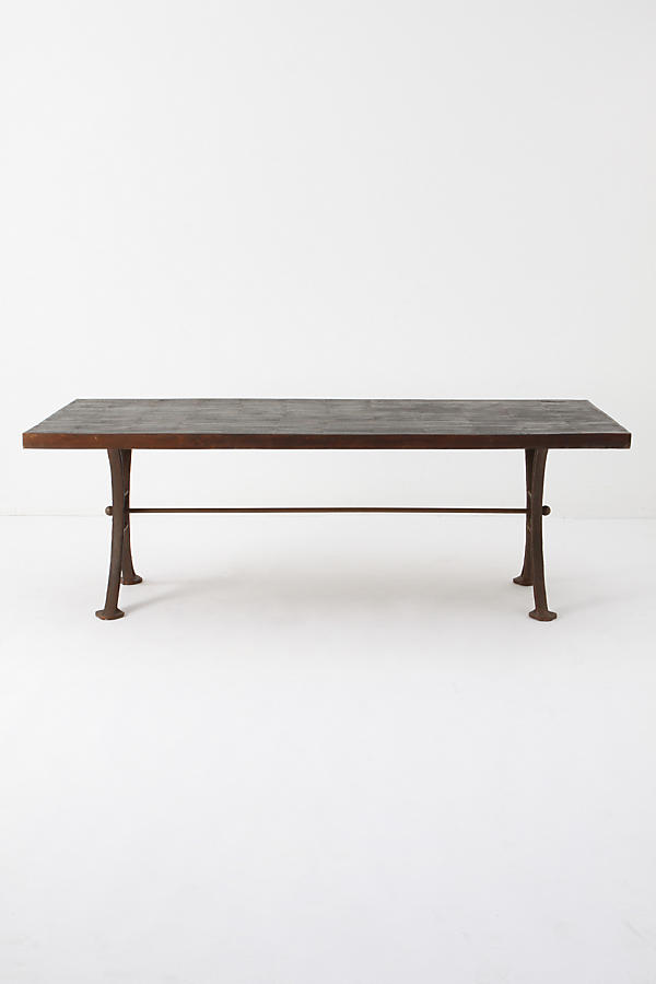 Burnt Wood Dining Table