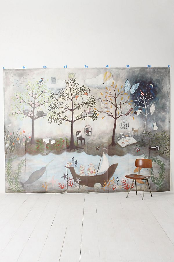 Enchanted Forest Mural Anthropologie