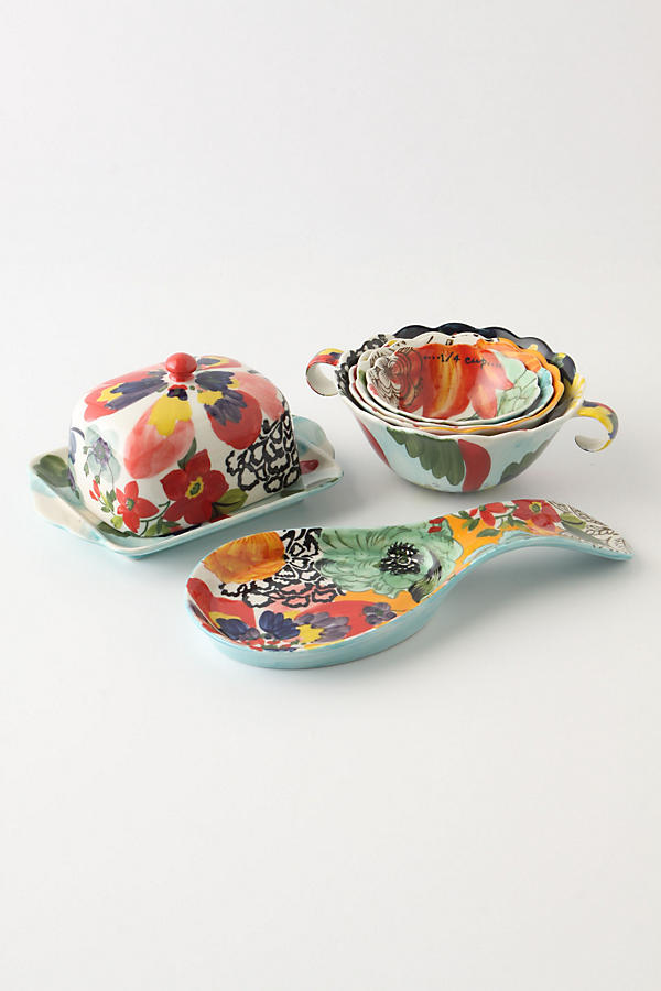 Slide View: 4: Painted Amaryllis Spoon Rest