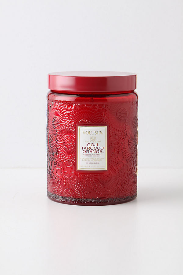 Voluspa Cut Glass Candle Jar - Red, Size Assorted