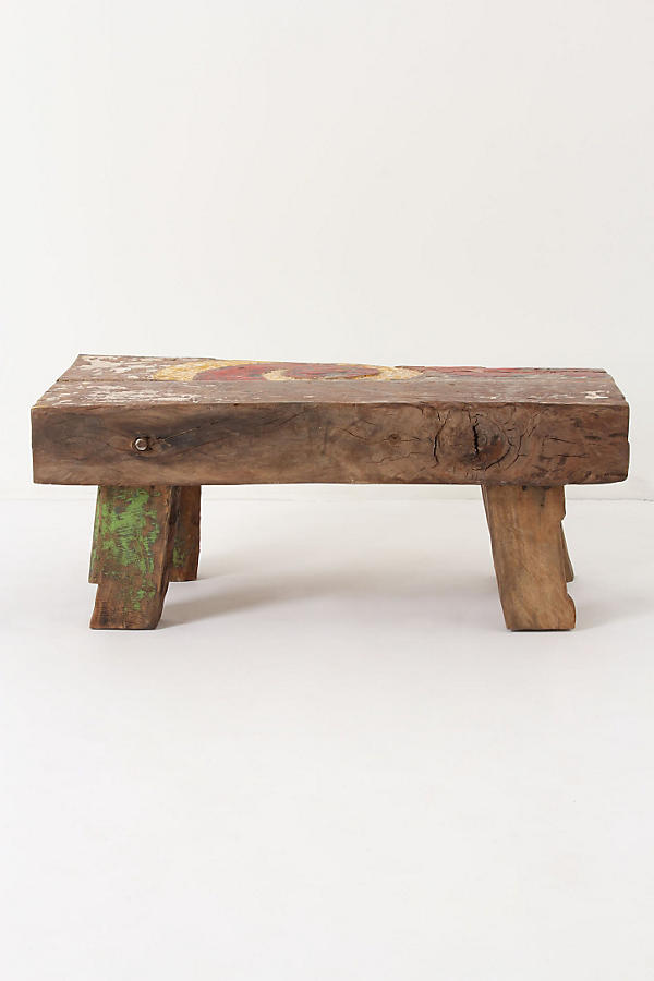 Slide View: 2: Reclaimed Boat Coffee Table