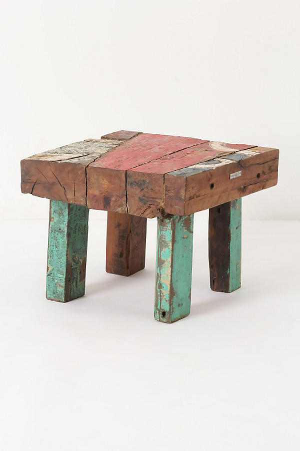 Square Reclaimed Boat Coffee Table