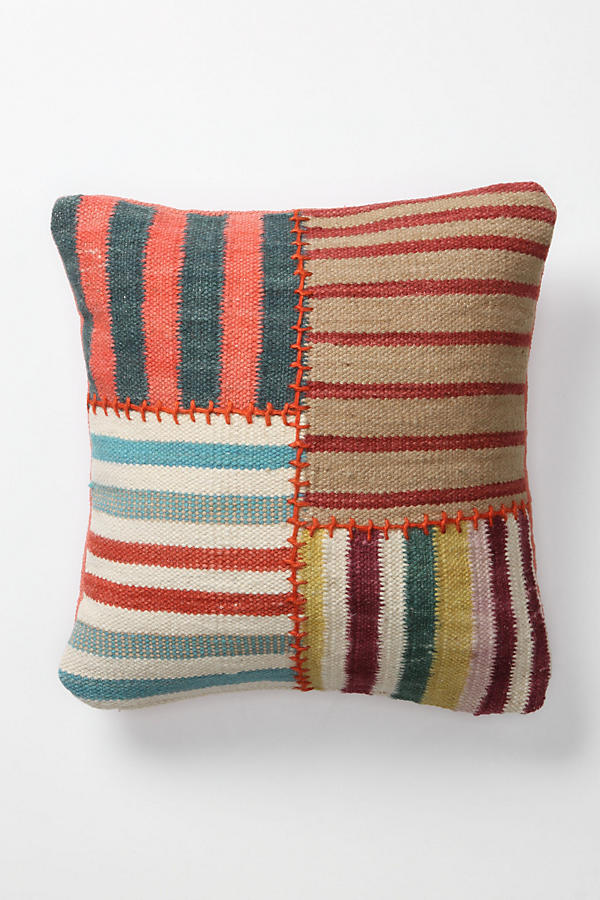 Banded Dhurrie Pillow, Square