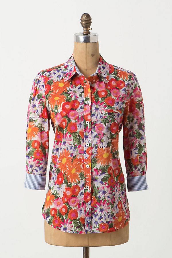 Hanalei Buttondown, Floral