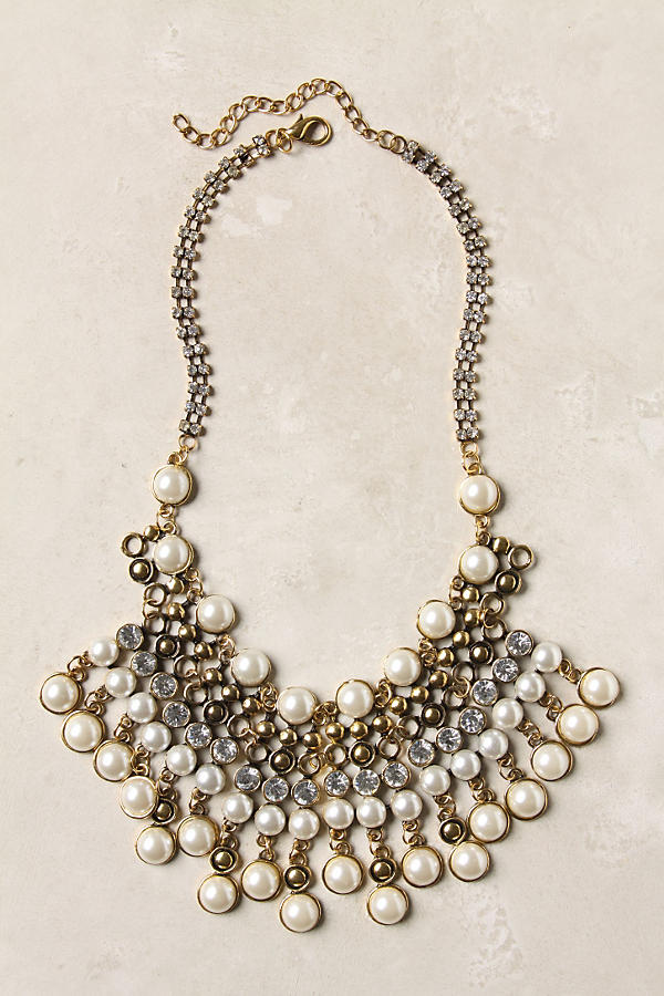 Slide View: 1: Spiked Beads Bib Necklace