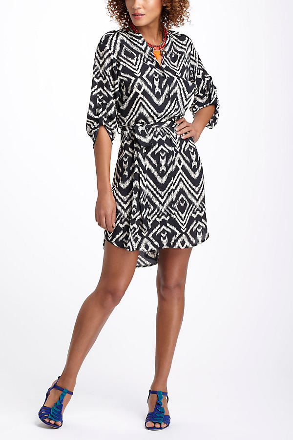 Ikat Frequencies Shirtdress