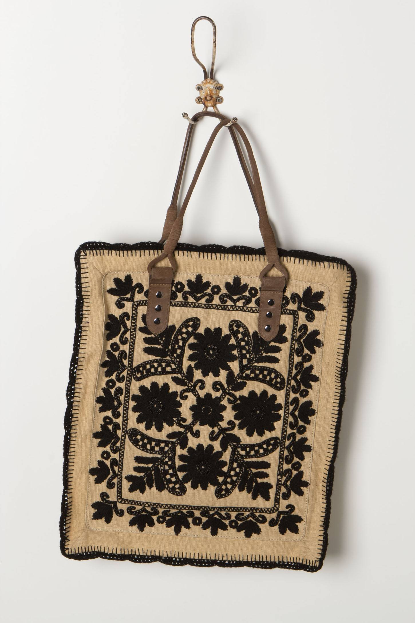 Framed Needlepoint Tote