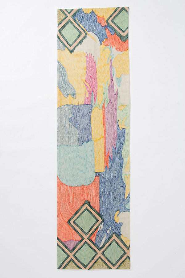 Slide View: 5: Crewel Abstraction Rug