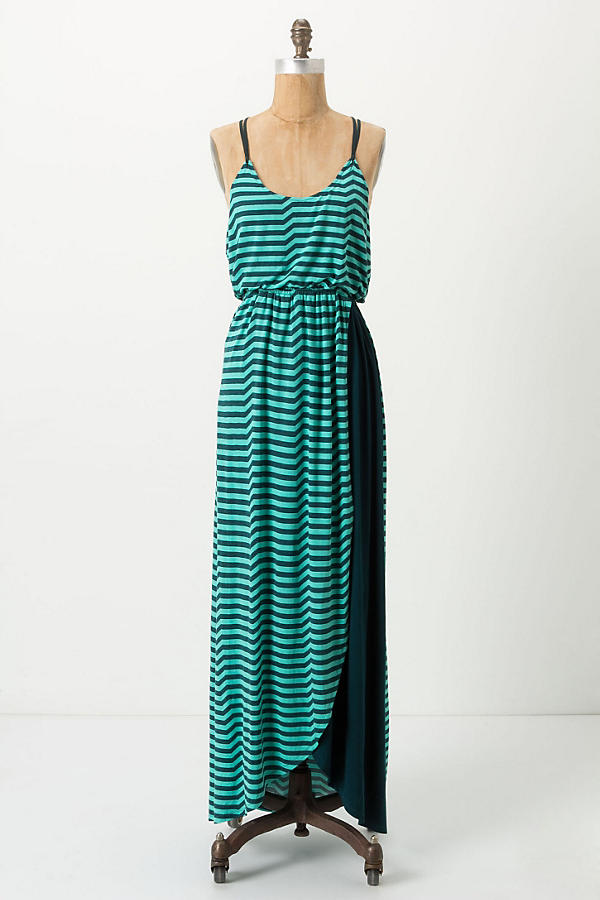 Striated Slub Maxi Dress