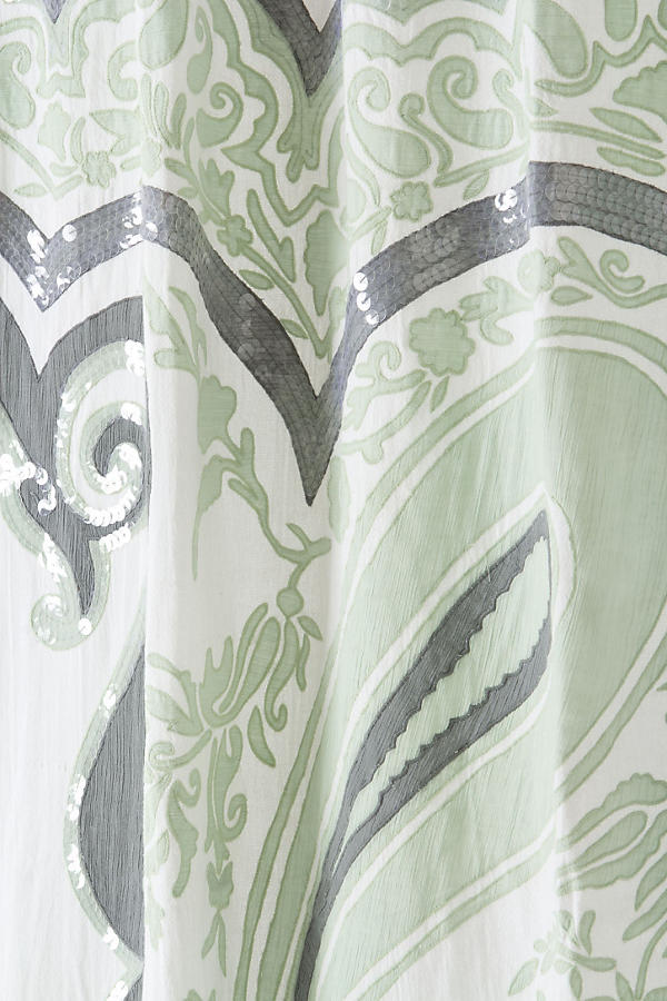Slide View: 2: Splashed Paisley Shower Curtain