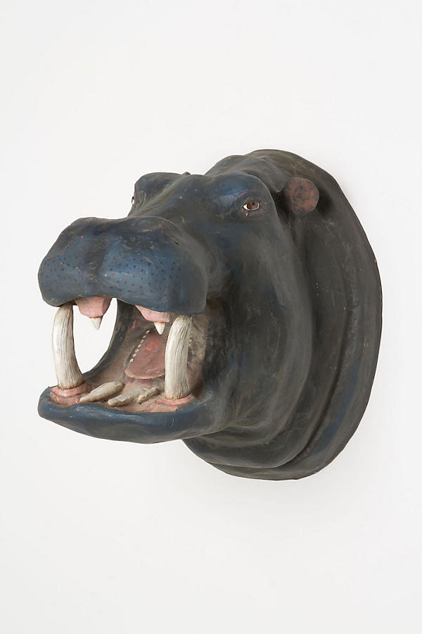 Smiling Hippo Bust