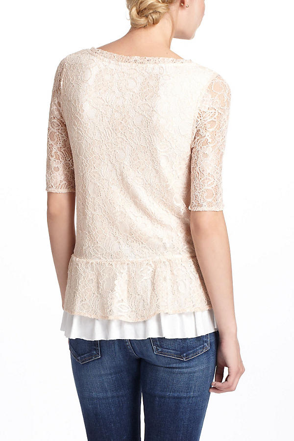 Slide View: 2: Ruffled Peplum Top