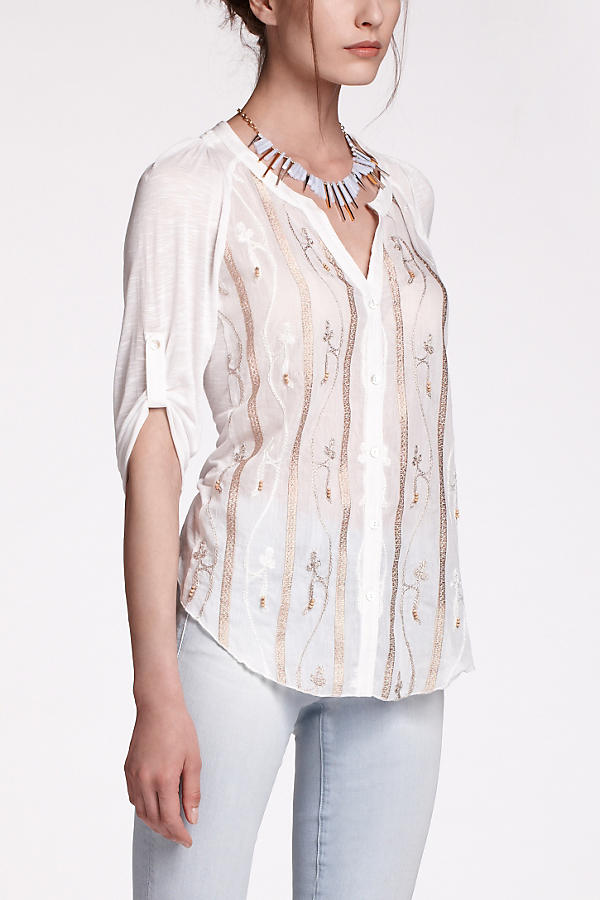 Beaded Slub Buttondown