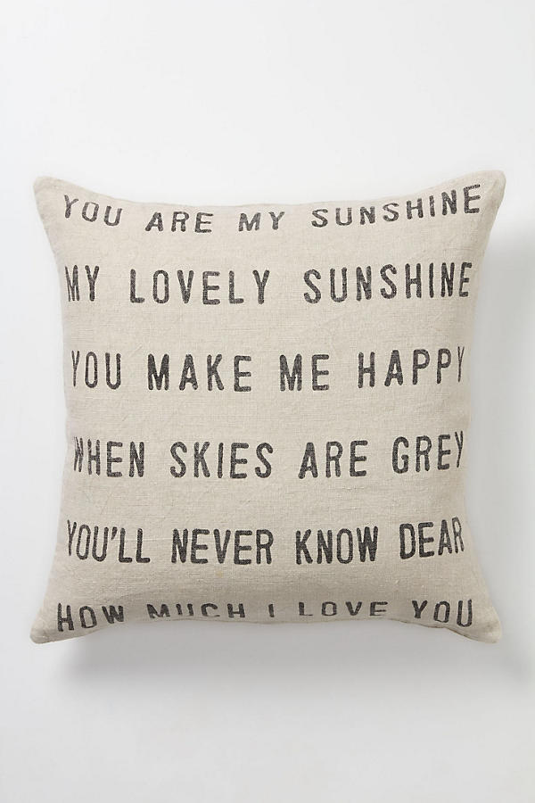 Slide View: 1: You Are My Sunshine Pillow