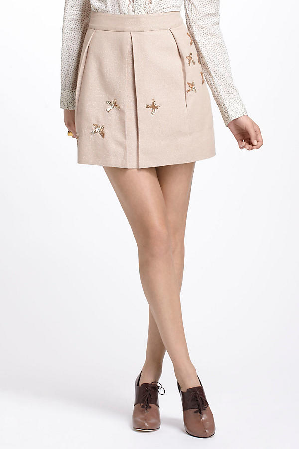 Slide View: 1: Sequined Migration Mini Skirt