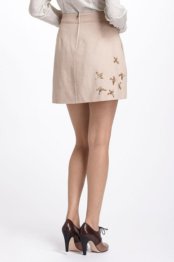 Slide View: 2: Sequined Migration Mini Skirt