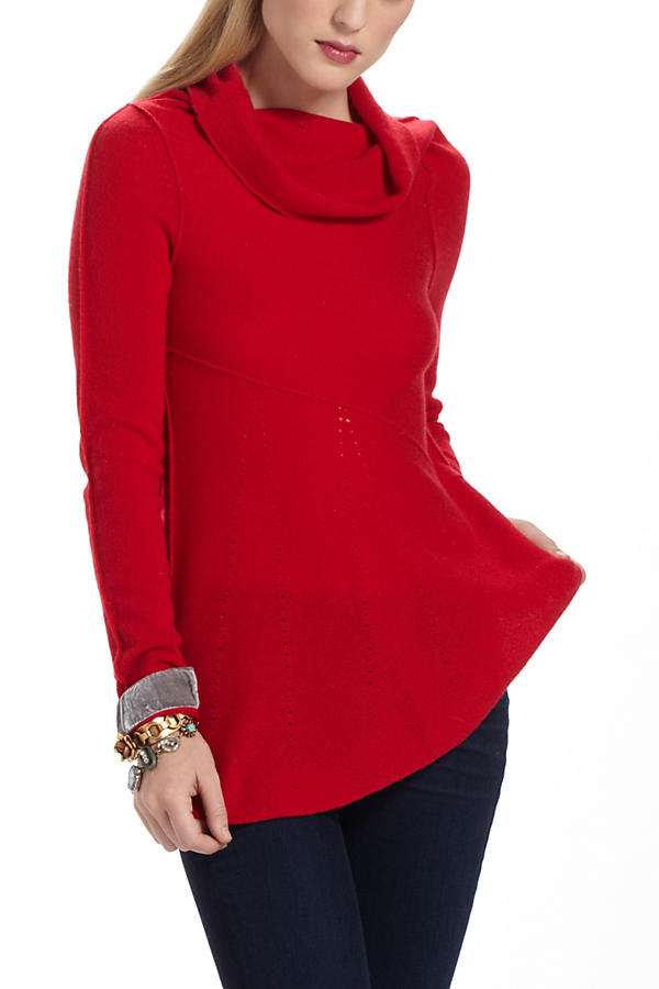 Slide View: 1: Perforated Cashmere Sweater