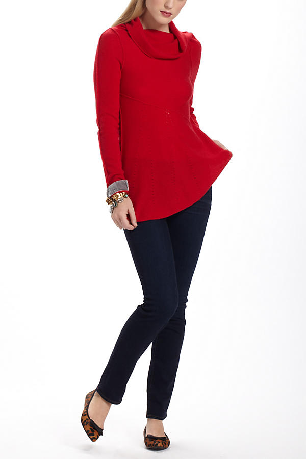 Slide View: 3: Perforated Cashmere Sweater