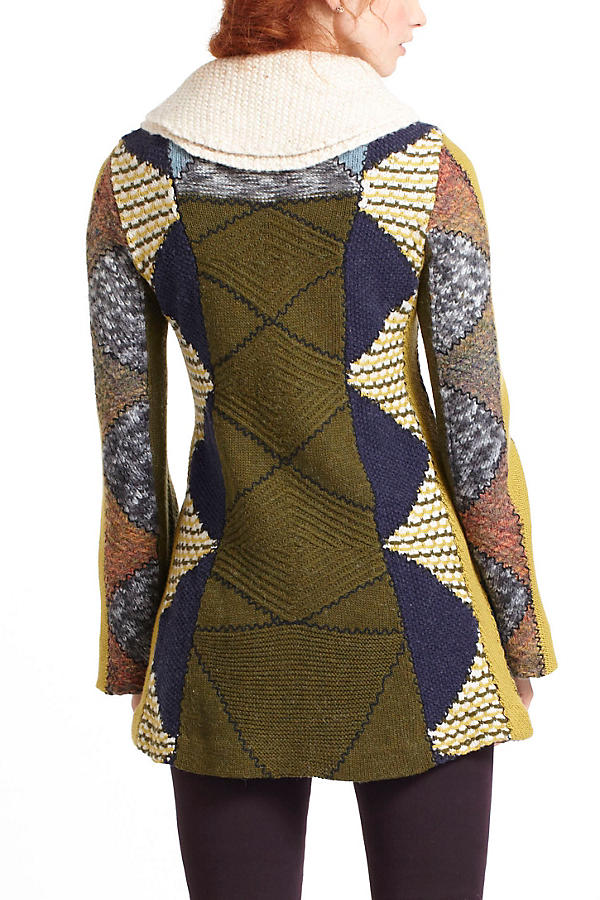 Slide View: 3: Harlequin Patchwork Sweater