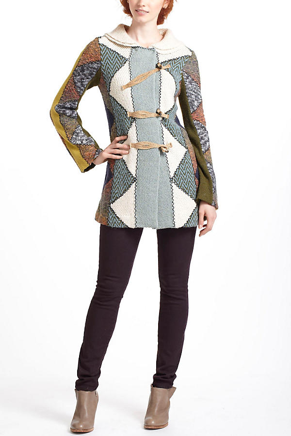 Slide View: 4: Harlequin Patchwork Sweater