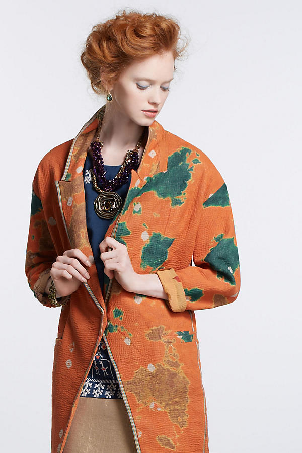 Slide View: 3: Orissa Vintage Kantha Coat