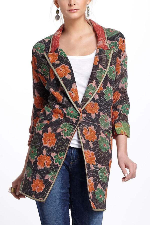 Slide View: 2: Orissa Vintage Kantha Coat