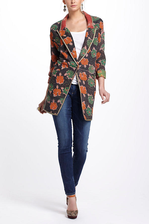 Slide View: 5: Orissa Vintage Kantha Coat