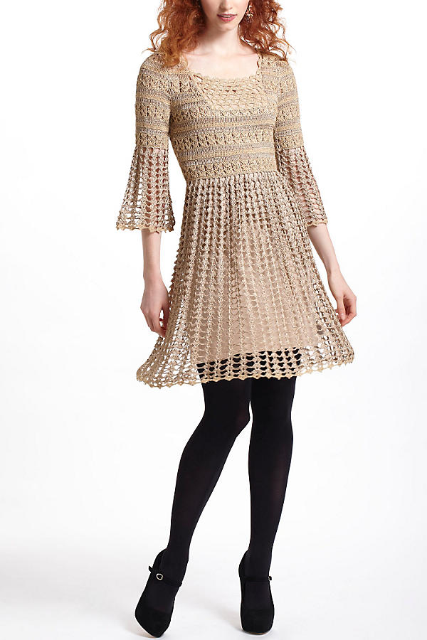 Shimmered Crochet Dress