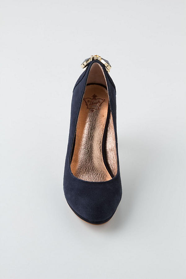 Slide View: 5: Cabochon Suede Pumps