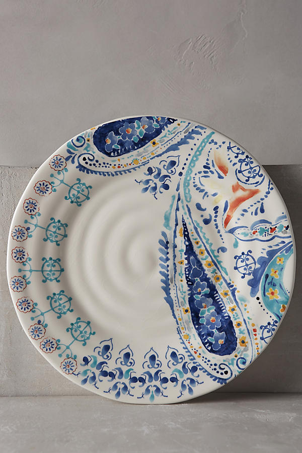 Slide View: 1: Swirled Symmetry Dinner Plate