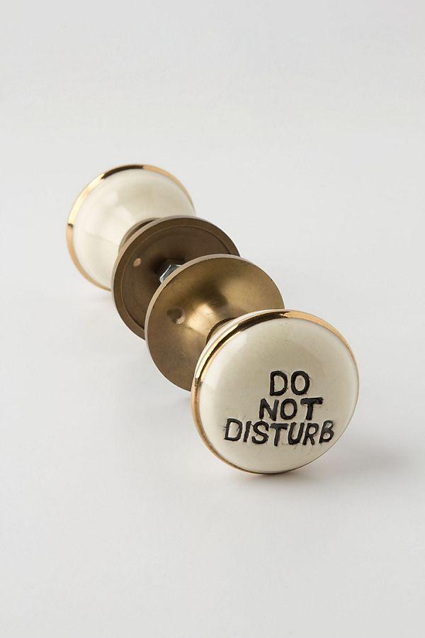 Do Not Disturb Doorknob   Anthropologie