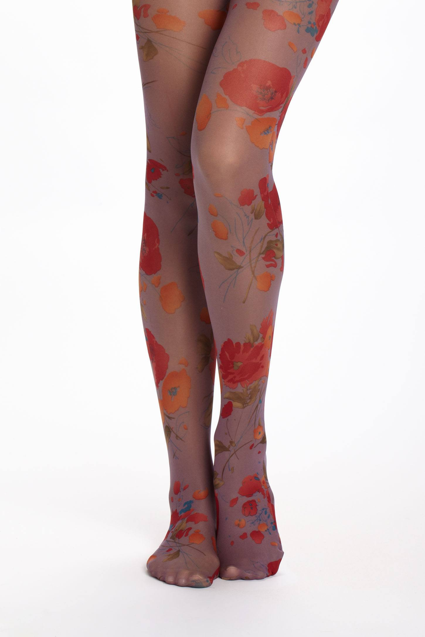 Poppy-Printed Tights