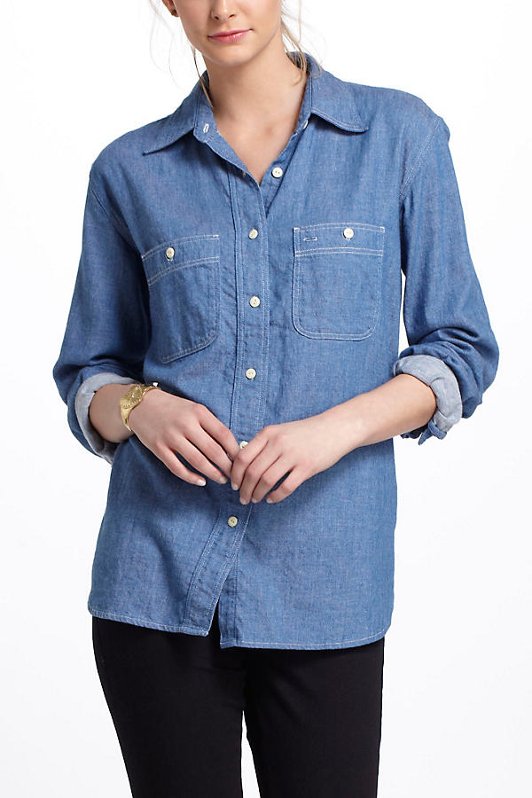 Slide View: 2: Chambray Work Shirt