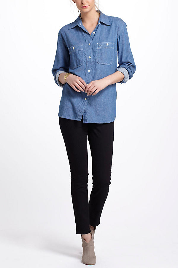 Slide View: 4: Chambray Work Shirt