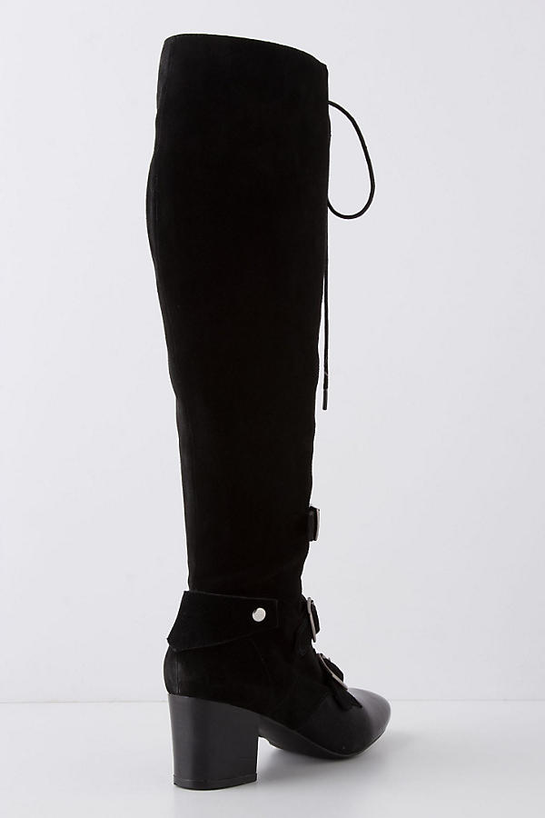 Slide View: 2: High-Tied Knee Boots