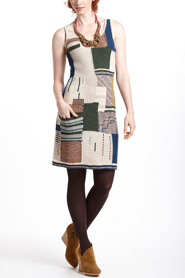 Patchwork Variations Sweater Dress
