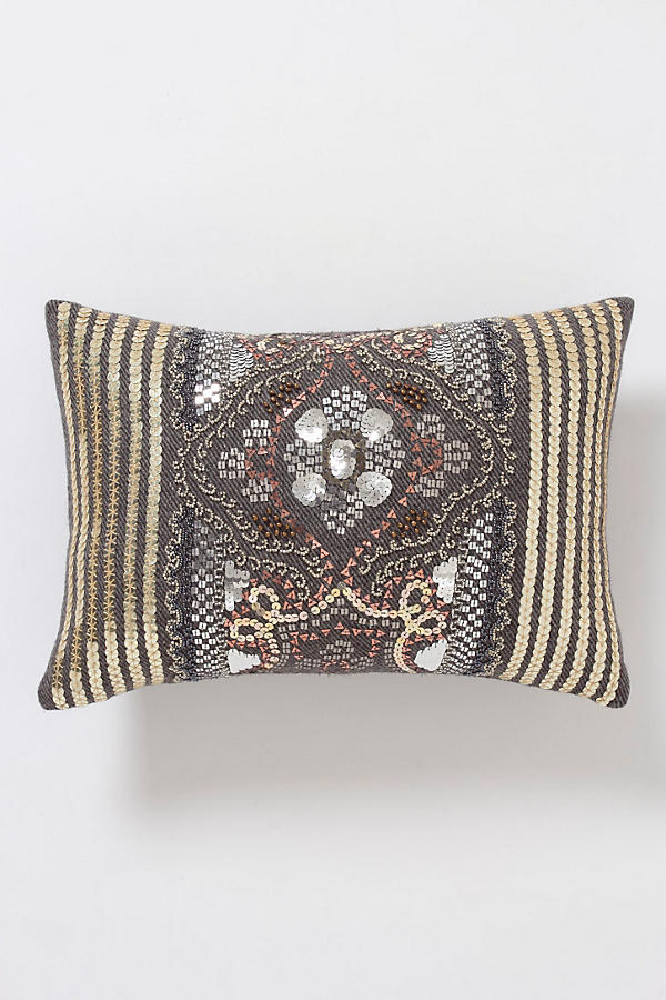 Sequined Fairisle Pillow, Small Rectangle