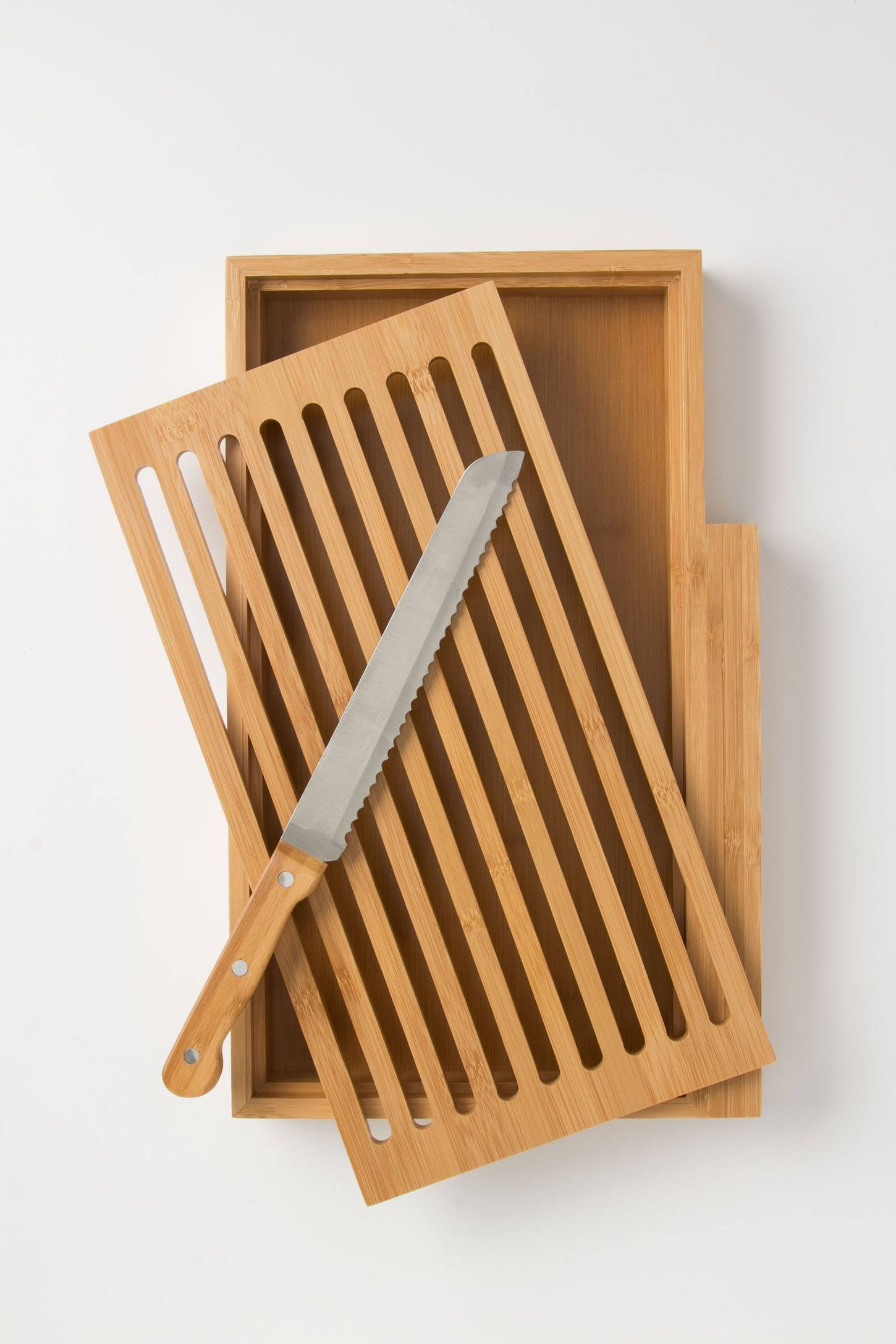 Bamboo Bread Board Set