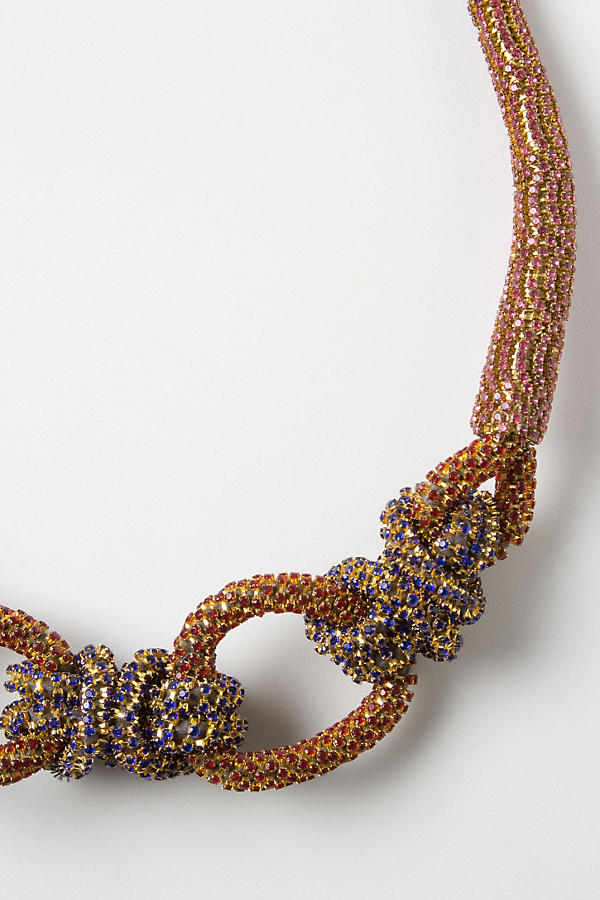 Slide View: 2: Shimmering Sailor Knot Necklace